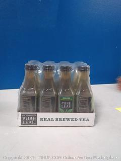 Pure Leaf, Iced Tea, 0 Calories Unsweetened Green Tea, Real Brewed Tea, 18.5 fl oz. bottles (12 Pack)