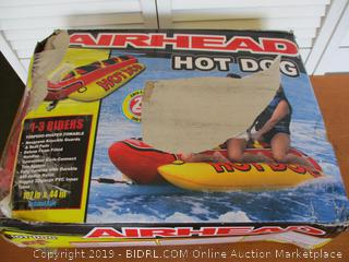 Airhead Hot Dog  1-3 Rider Towable Tube for Boating (Retail $150)