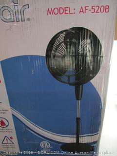 NewAir Outdoor Misting Fan Oscillating Pedestal Fan with Three Gentle Mist Nozzles, AF-520B, (Retail $130)
