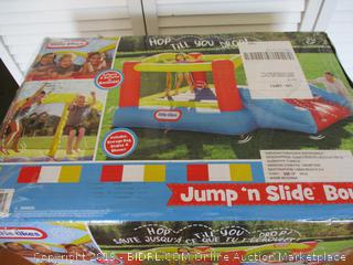 Little Tikes Inflatable Jump 'n Slide Bounce House w/heavy duty blower (Retail $200)