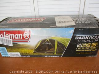Coleman Dome Camping Tent Dark Room (Retail $150)