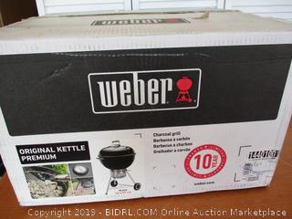 Weber Original Kettle Premium Charcoal Grill, 22-Inch, (Retail $150)