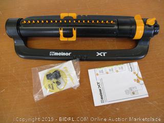Melnor 65078-AMZ XT Turbo Oscillating Sprinkler with 3-Way Adjustment