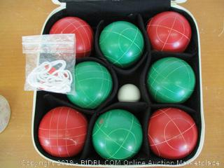 GoSports 100mm Regulation Bocce Set with 8 Balls, Pallino, Case and Measuring Rope - Premium Official Size Set (Retail $60)
