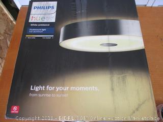 Philips Hue 4100248U7 Hue White Ambiance Fair Dimmable LED Smart Flushmount Brushed Aluminum, Compatible with  Alexa (Retail $260)