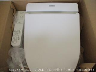 TOTO SW2014#01 A100 WASHLET Electronic Bidet Toilet Seat with SoftClose Lid, Elongated, Cotton White (Retail $300)