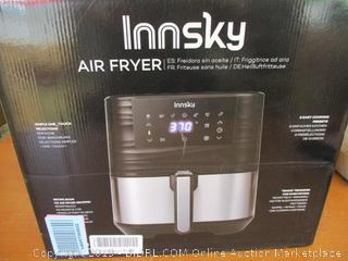 Innsky Air Fryer XL, 5.8QT 1700W Electric Stainless Steel Air Fryers Oven Oilless Cooker