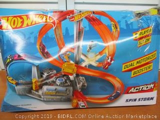 Hot Wheels Spin Storm Track Set