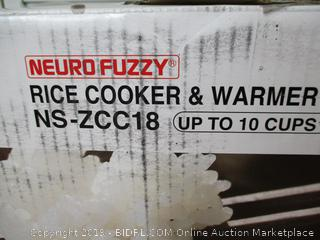 Zojirushi NS-ZCC18 10-Cup Neuro Fuzzy Rice Cooker, 1.8-Liters, (Retail $200)