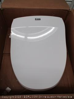 Bio Bidet Slim Two Smart Toilet Seat in Elongated White, Nightlight, Turbo Wash, Oscillating and Fusion Warm Water Technology with Wireless Remote (Retail $330)