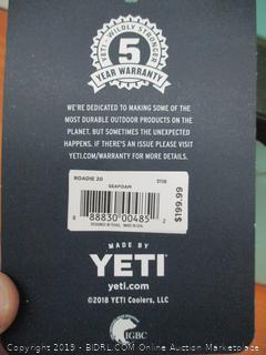 YETI Roadie 20 Cooler (Seafoam) (Retail $225)