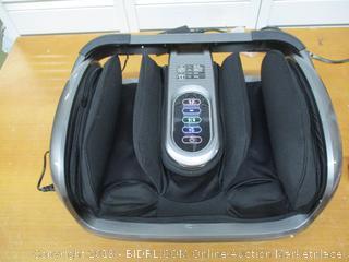 Miko Foot Massager Reflexology Machine with Shiatsu Massage Settings, Vibration, Kneading, Heat and Adjustable Bar for Feet, Ankles, Calf, (Retail $180)