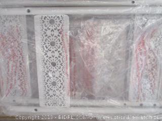 "Silverwood Filigree Bathroom Collection Floor Shelf (36"" High)"