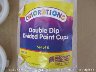 Double Dip Divided Paint Cups
