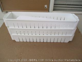 Three Tier Slim Slide Out Pantry On Rollers