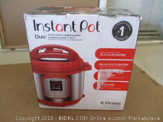 Instant Pot Duo RED 60.  7-in-1 Multi-Use Programmable Pressure, Slow, Rice Cooker, Steamer