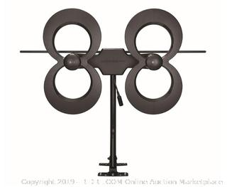 Antennas Direct Clearstream 4Max TV Antenna, 70+ Mile Range, UHF/Vhf, Multi-Directional, Indoor, Attic, Outdoor, Mast W/Pivoting Base/Hardware/Adjustable Clamp/Sealing Pads, 4K Ready