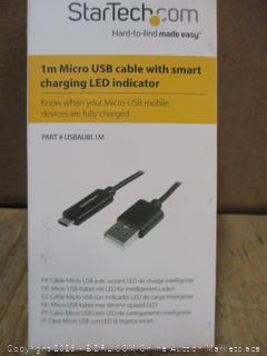 1m Micro USB Cable with smart charging Led indicator