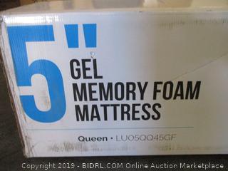 "5"" Gel Memory Foam Mattress Size Queen"