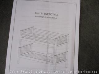 Twin Over Twin Bunk Bed (Damaged)