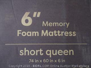 """6"""" Memory Foam Mattress Size Short Queen"""