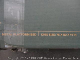 Metal Platform Bed Size King