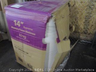 "14"" Memory Foam Mattress Size King"