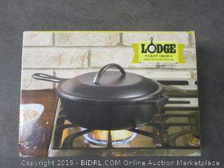 Lodge Cast Iron Covered Deep Skillet
