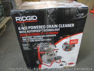Rigid K-400 Powered Drain Cleaner (Box Damaged)