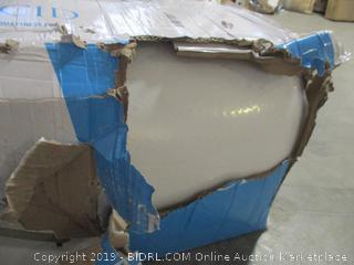 "12"" plush gel memory foam mattress, queen size"