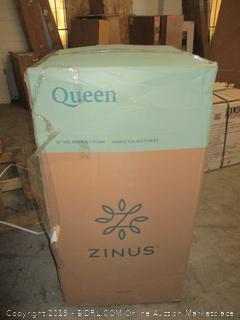 """Zinus queen 12"""" gel memory foam green tea mattress"""