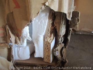 "58"" wood TV media stand storage console - damaged"