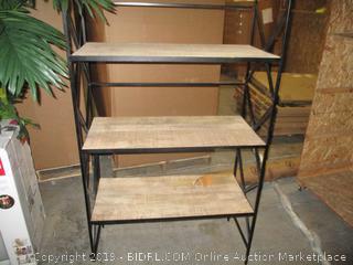 metal and wood shelf furniture item - bent