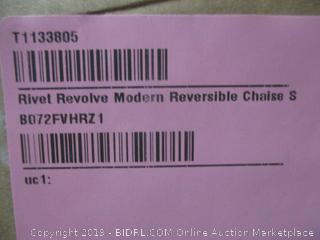 rivet revolve modern 3 seater reversible chaise