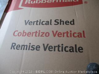 Rubbermaid vertical shed - possibly incomplete
