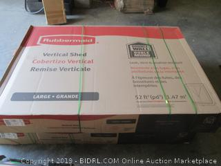 rubbermaid vertical storage shed