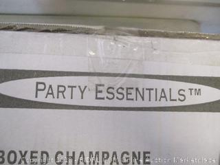 party essentials boxed champagne flutes