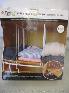 Evelots wire shelf dividers for wood shelves