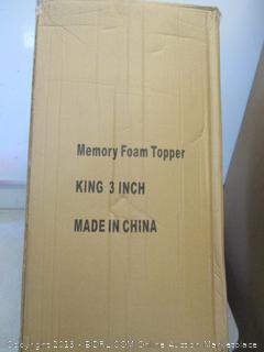 memory foam topper (king size)