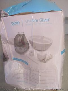 Pure MistAire silver ultrasonic cool mist humidifier