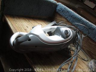 Shark lift-away Pro steam pocket mop - powers on