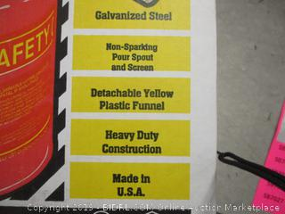 Type 1 5 gallon safety can