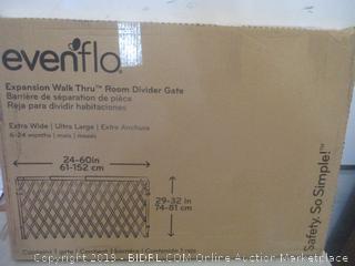 Evenflo expansion walk through room divider gate