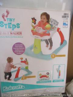 Kolcraft tiny steps 2 in 1 activity walker