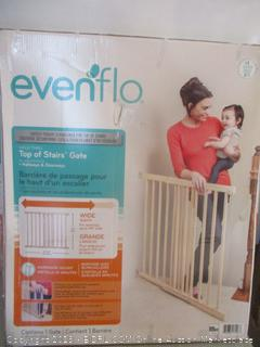 EvenFlo top of stairs safety gate