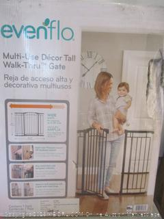 EvenFlo multi-use decor tall walk-thru gate