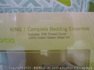 King size complete bedding ensemble