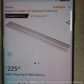 Festool Guide Rail (Retail $225.00)