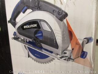 Evolution TCT Steel Cutting Circular Saw - Powers On