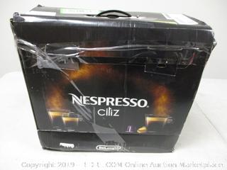 Nespresso Ciliz Machine - Powers On